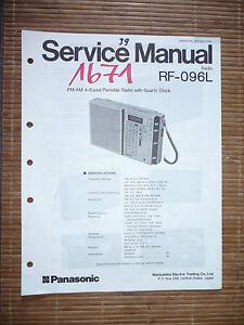 Romantisch Service Manual Für Panasonic Rf-096l,original Tv, Video & Audio