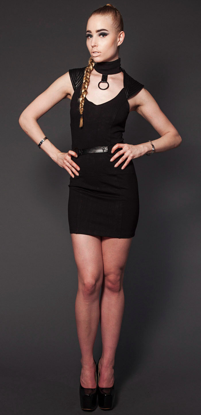 Lip Service Strictly Confidential Steampunk Cyber Goth Sleeveless Dress