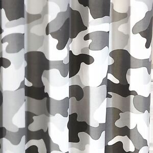 Gris-Camouflage-Armee-Doublure-Rideaux-Enfants-Chambre-66in-x-54in-168cm-x