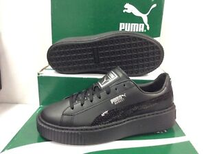 f1258c58da Details about Puma Basket Platform Bling Junior Women's Sneaker Trainers,  Size UK 4 / EU 37