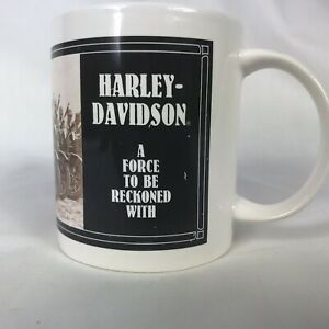 1992-Harley-Davidson-A-Force-To-Be-Reckoned-With-Coffee-Mug-Collectors-Item