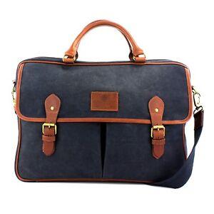 The Briefcase British Bag navy Canvas Navigator Company Waxed TqEqzU