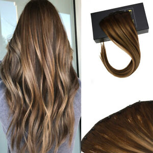 One Piece Micro Beads Weft Hair Extension Remy Human Hair Balayage