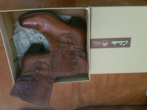 Clarks Ankle Leather Boots Tan 6 gxaArx0qw
