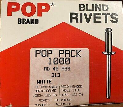 AD43ABS Aluminum Blind Rivet with Aluminum Mandrel Dome Head Pack of 500 1//8 x .126-.187 Grip
