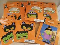 Lot Of 6 Sealed Foam Masks 1 Witch Craft Kits Witch Monster Mummy Black Cat