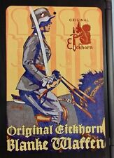 WWII WW2 German dagger sword knife advertisement Carl Eickhorn metal sign poster