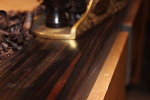 """59/""""x 3/""""x 1/"""" about 1.25 bdft. Rough Lumber Quarter Sawn 4//4 Macassar Ebony"""