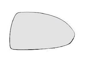 Spiegelglas Außenspiegel Rechts Heizbar Konvex Chrom OPEL CORSA D 06-14 Neu