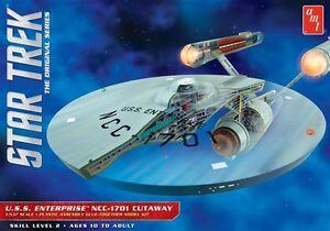 AMT-Star-Trek-Enterprise-Cutaway-TOS-1-537-scale-plastic-model-kit-new-891
