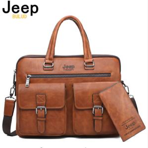 2 Briefcase Jeep Sac Business Homme Cuir Denim Mode Laptop Portefeuille En Pcs Buluo xedBrCo