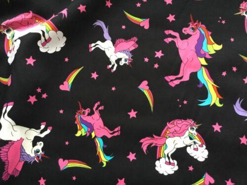 Unicorn Tissu 100/% coton matériau Magique Rainbow Grand LICORNE *