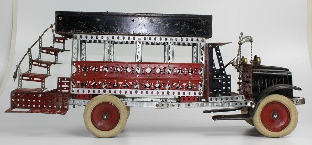 Buen Estado Vintage 585ms A. C. Gilbert blancoo Camión Erector Set Built