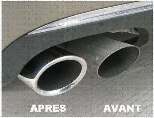 EMBOUTS TUYAUX TUBES ECHAPPEMENTS CHROME CANULE pour AUDI A3 A4 A5 A6 TT Q5 75mm