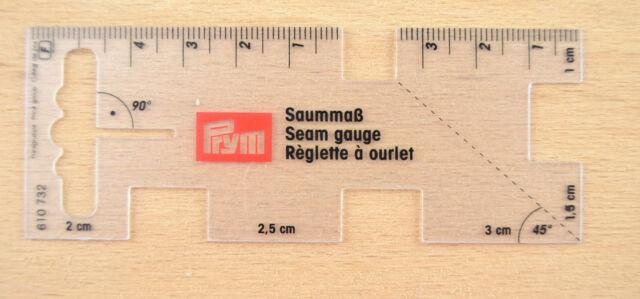 Handmass Saummass von Prym  Transparent 610 732
