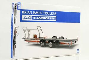 Brian James Trailers Auto Anhänger  Bausatz Kit 1:24 Aoshima