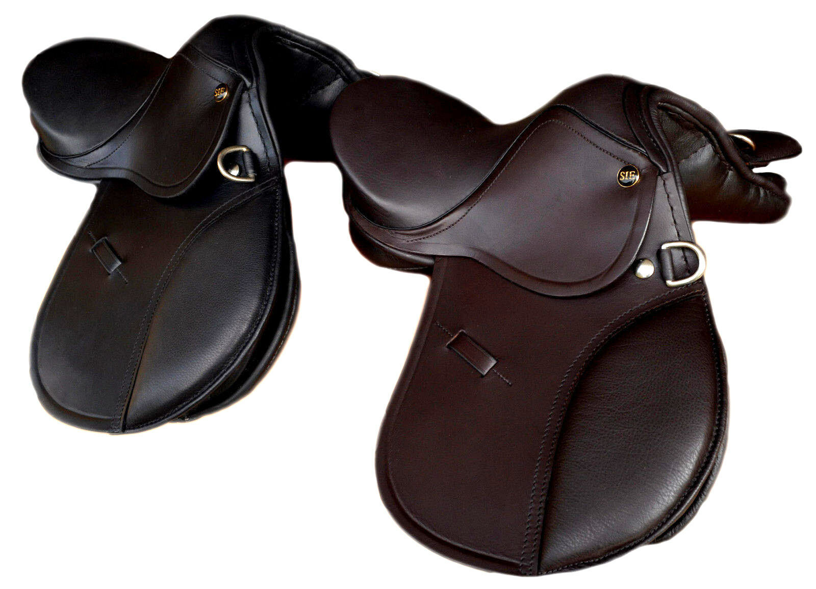 Jumping Leather Pony Saddle 10'' and 12'' for Kids