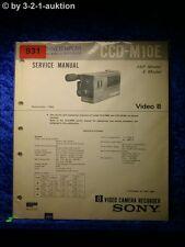 Sony Service Manual CCD M10E Video Camera Recorder (#0931)