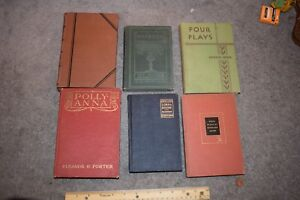 VINTAGE LOT OF OLD BOOKS Pollyanna 1940s Eleanor H. Porter - Macbeth Lorna Doone