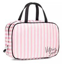 NWT VICTORIA'S SECRET Pink Signature Striped Cosmetic Bag Makeup Travel Case