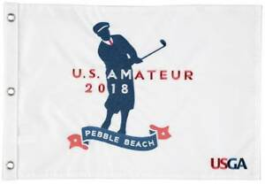 2018 US AMATEUR Official (Pebble Beach) EMBROIDERED Golf FLAG