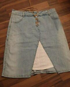 on sale 3ca21 26201 Details zu Damen Jeansrock Midirock gr.42Mädchen Rock Jeans blau