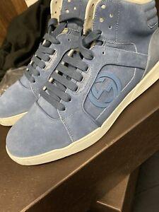 authentic gucci shoes men 10.5 blue