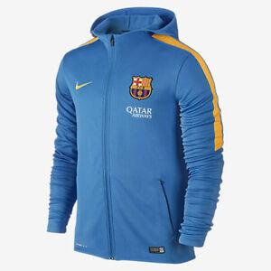 6447ac418013f La imagen se está cargando Nike-FC-Barcelona-Grafico-Punto-Cremallera- Sudadera-Ligera-