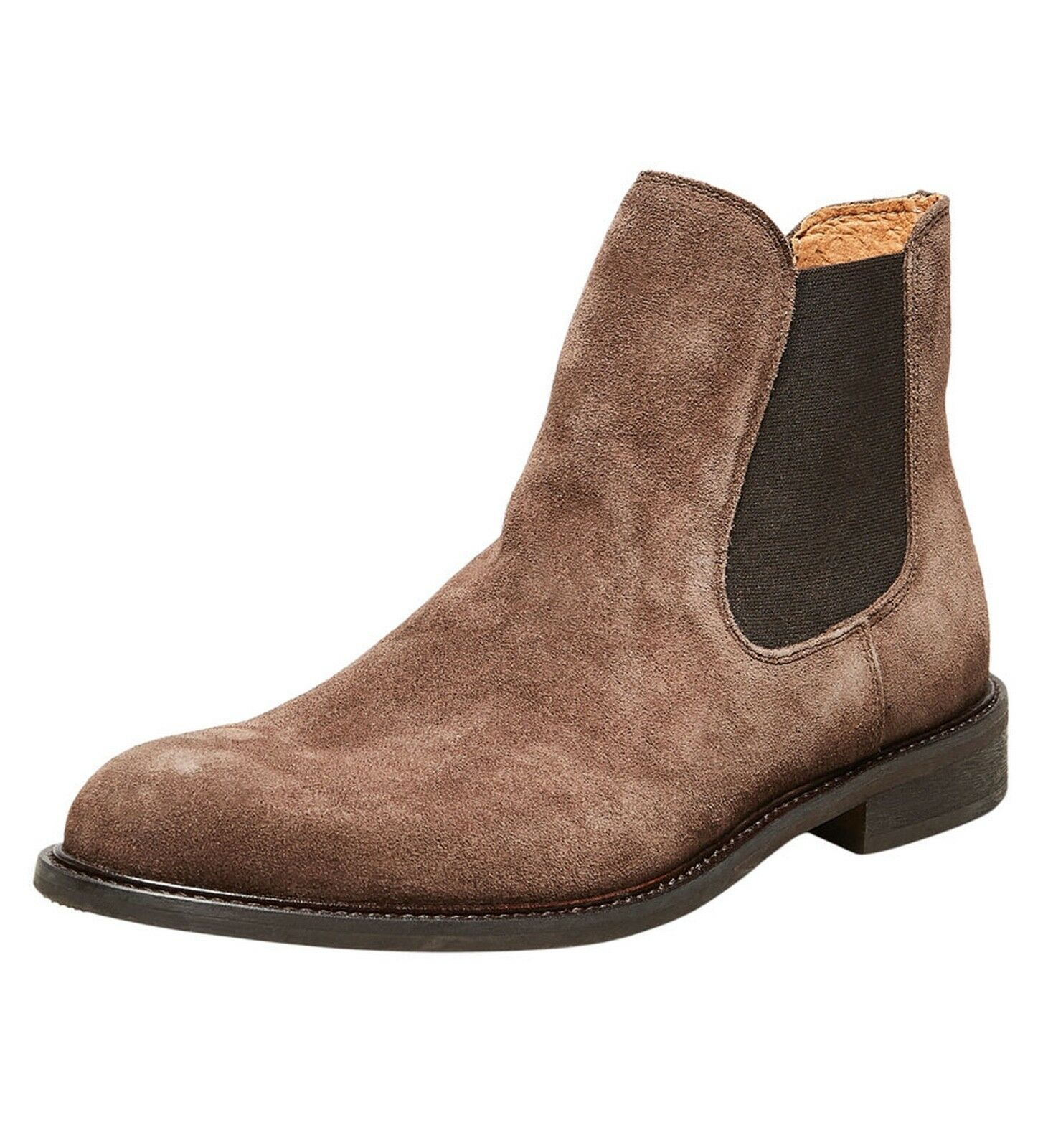 Selected Homme Chelsea Boots High shoes Cocoa Brown Suede Leather Smart Boot