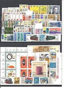 DDR-1981-1990-komplette-Jahrgaenge-postfrisch-mit-allen-Bloecken-Kleinboegen