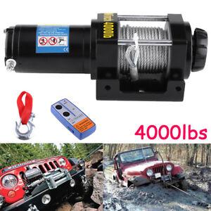 12V-4000lb-Treuil-de-bateau-voiture-de-electrique-de-cable-en-acier-de-treuil