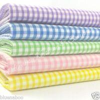PER HALF METRE  POLYCOTTON 1/8 Inch Tiny Gingham Fabric 110cm Wide