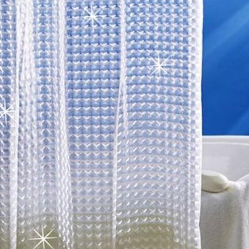 Heiss Plastik Eva 3D Duschvorhang Transparent Transparent Transparent Wasser Würfel Badezimmer Vorhang | Reichlich Und Pünktliche Lieferung  93beac