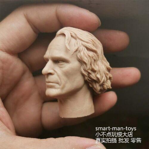 "1//6 Joker Makeup Head Sculpt Joaquin Phoenix Green Head Model F 12/"" Male Figure"