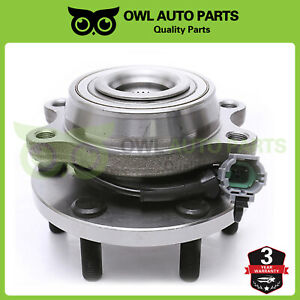 FRONT Wheel Hub /& Bearing Assembly Fits Left or Right Side 4WD w// ABS 6 Lug