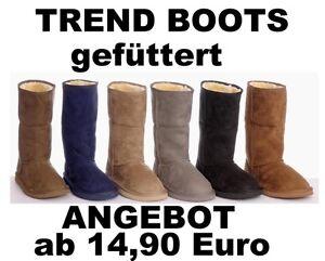 c8ae6bc4e6bda2 Das Bild wird geladen Damen-Winter-Stiefel-Boots-warm-GEFUTTERT-TOP-MODERNE-