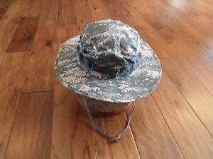 U.S MILITARY STYLE ALL TERRAIN CAMOUFLAGE BOONIE  BUCKET FLOPPY HAT SIZE 7 1/2