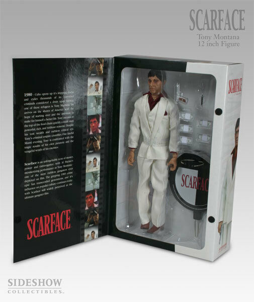SCARFACE - Tony Montana 12  Talking Action Figure (Sideshow Collectibles)  RARE
