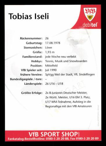 96676 Tobias Iseli VFB Stuttgart 1999-00 TOP AK