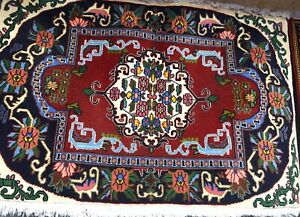Marque Populaire Tapis Persan Kashann Ir 105x70cm Noué Main Rugs Alfombra Tappeto Teppich Carpet Couleurs Harmonieuses