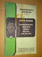 Vintage John Deere 55a 55b 55h 3 Bottom Tractor Plows Operators Manual