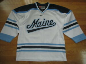 new concept fbcdc c125b Details about Vintage Nike UNIVERSITY of MAINE BLACK BEARS (SM) Hockey  Jersey