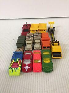 Lote-de-13-1979-1993-Autos-Matchbox-y-Hot-Wheels-Juguete