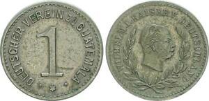 1871-1888 Deutscher Verein zu Guatemala Wertmarke zu 1 ss-vz 53492