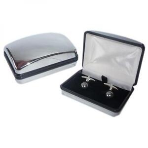Black-Swarovski-Pearl-Cufflinks-Formal-Cruise-Smart-Occasion-Present-Gift-Box