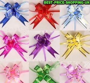 Details about 50 x PP Pull Bows 30mm pull bow Florist Pull bows Ribbon Car  Wedding Pompom New