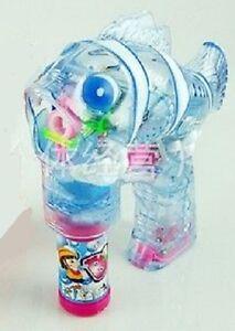 BUBBLE BLASTER Flashing LED Fish Bubble Gun! Bright LED lights & Steady Bubbles!