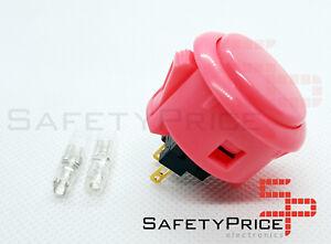 Pulsador-Arcade-Sanwa-OBSF-30-Original-Rosa-faston-Bartop-Raspberry-SP