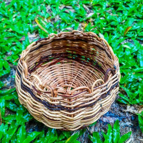 Handmade Traditional Vintage Woven Wicker Basket Fruit Flower Home Decoration