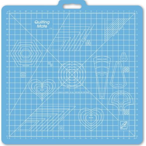 """June Tailor Gridded Rotary Mat With Handle 26/""""X27/"""" w//23/"""" Grid"""